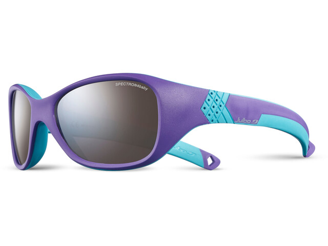 Julbo Solan Spectron 4 Sunglasses 4-6Y Kinder purple/turquoise-gray flash silver